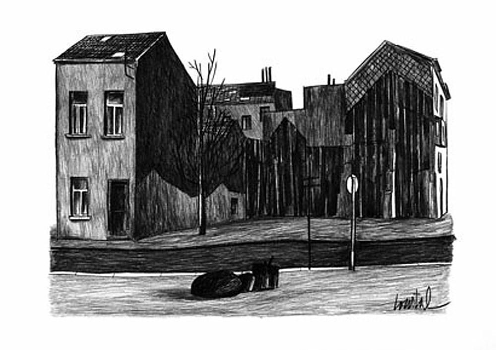 Jacques De Loustal Attraverso la città Bruxelles
