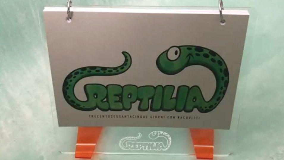 """Un oggetto di designer il calendario 2019 di Benito Jacovitti  """"Reptilia"""" € 18"""