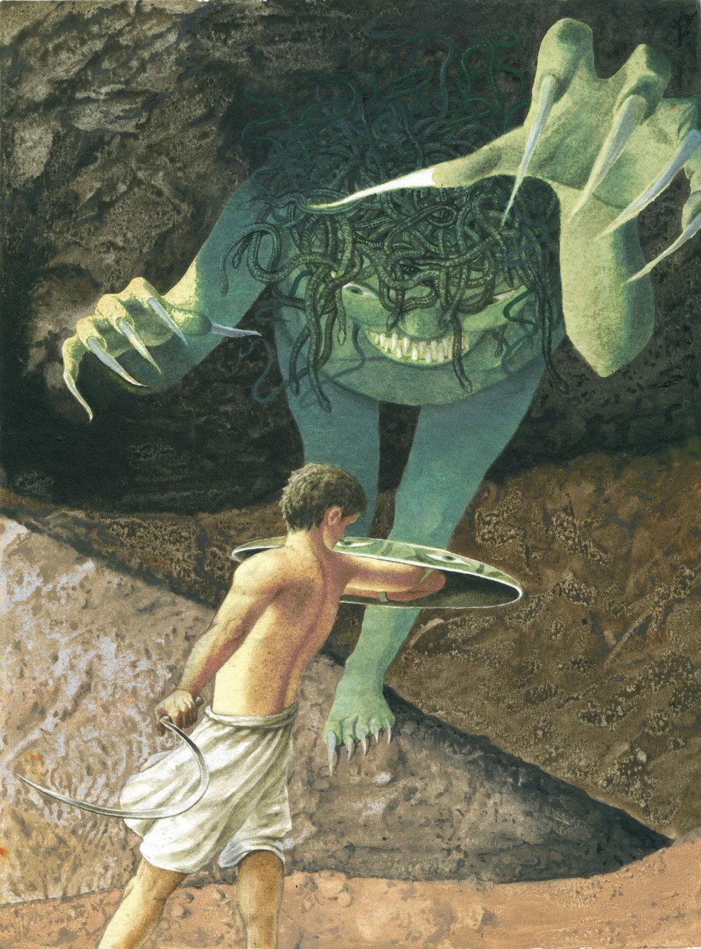 Perseo contro la Medusa