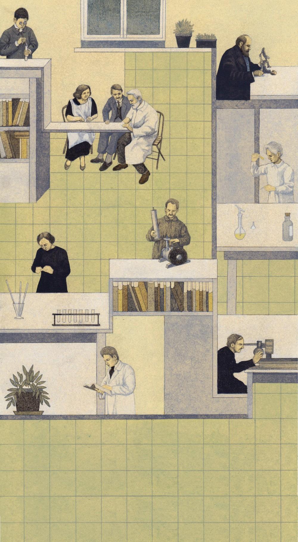 La straordinaria  vita di Marie Skłodowska Curie rivisitata dalla  mani sapienti di Claudia Palmarucci in oltre 80 raffinate immagini